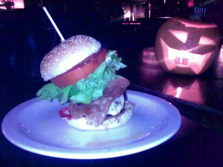 Halloween burger! Scary...