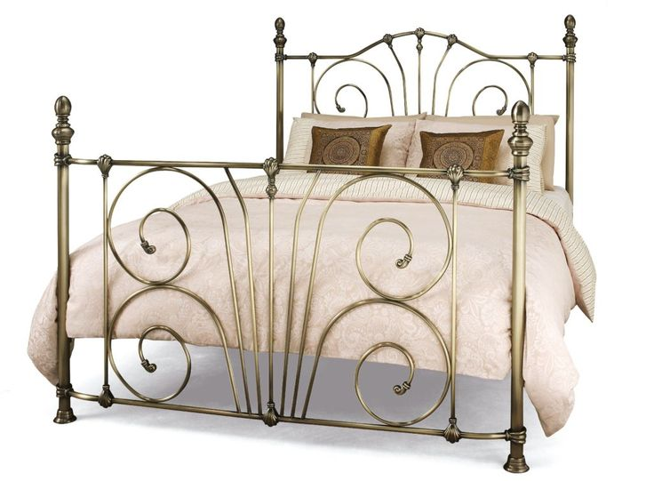 Antique Brass Super King Bed Frame