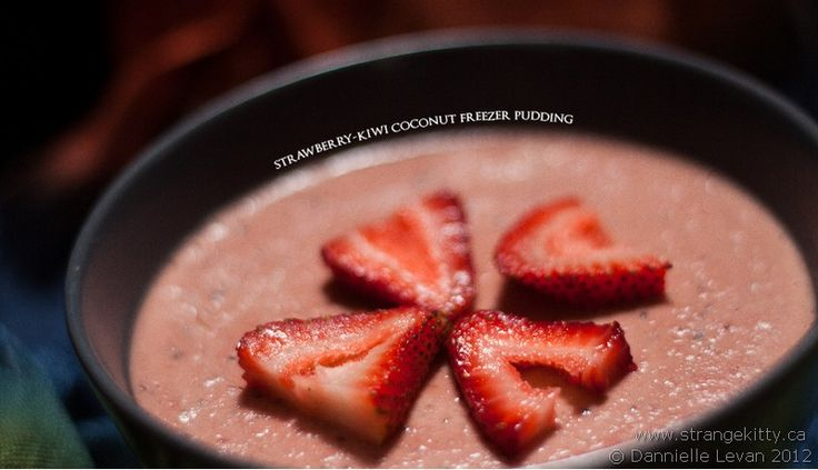 Strawberry-Kiwi Freezer Pudding  @Kimberly Masters