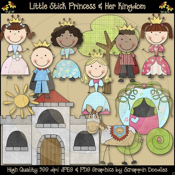 Little Stick Princess Kingdom Download - $3.50 : Scrappin Doodles, Creative Clip Art, Websets & More