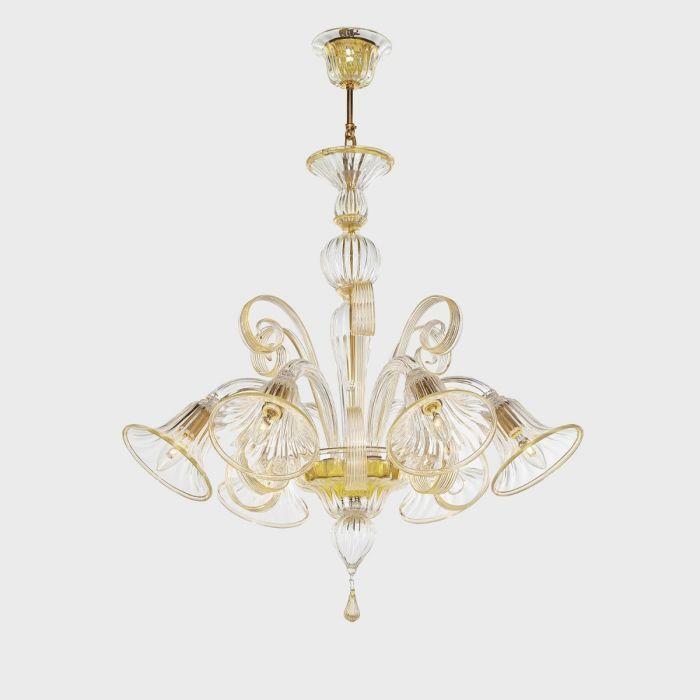 Armonia lampadario in vetro di murano (12 luci, autentico lampadario veneziano lavorato secondo la. Ermes D Oro Lampadari Lampadario In Vetro Vetro Di Murano