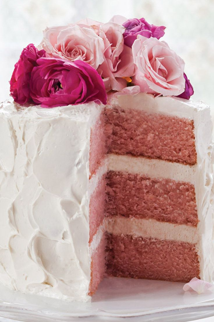 This Pink Velvet Cake with Vanilla Swiss Meringue Buttercream is a beautiful and toothsome dessert.