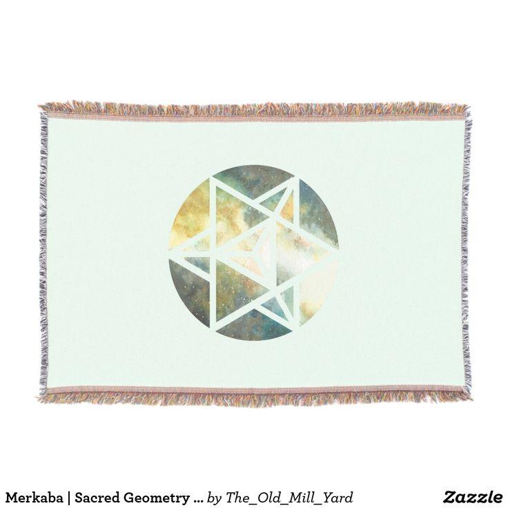 Merkaba | Sacred Geometry Blanket by Kari Weatherbee Blanket | Throw Blanket | Home Decor