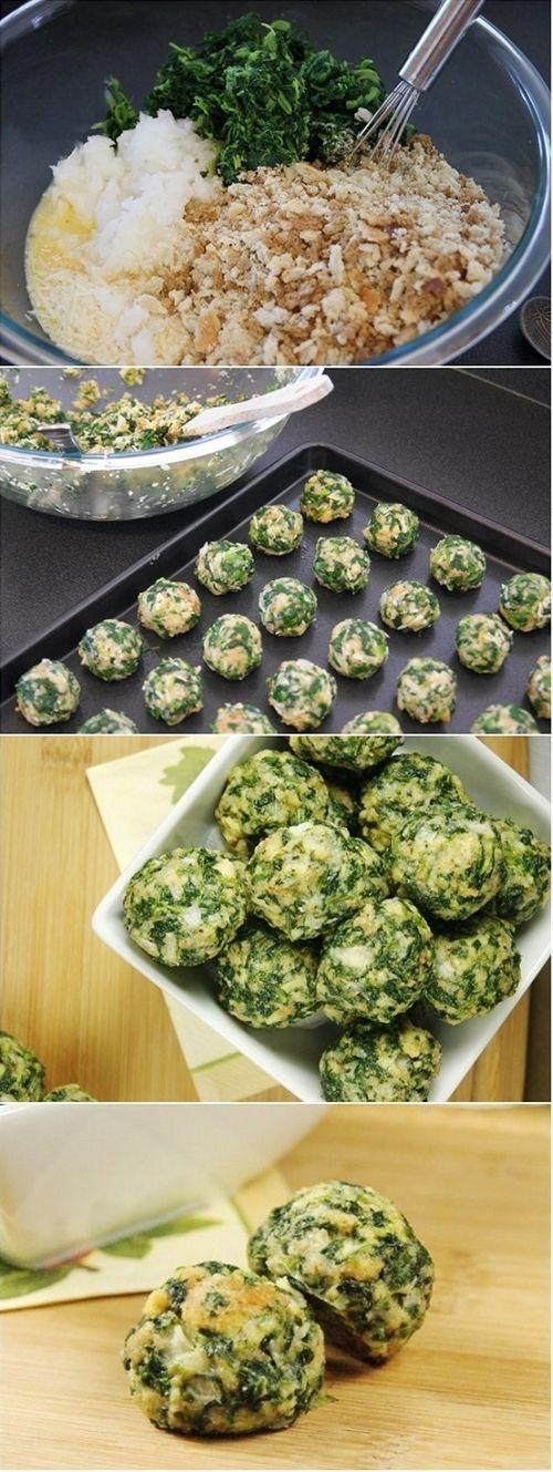 Parmesan Spinach Balls Recipe | Nosh-up