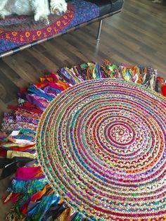 Bohemio de Bohème trenzado alfombra por IslandChickDesigns en Etsy