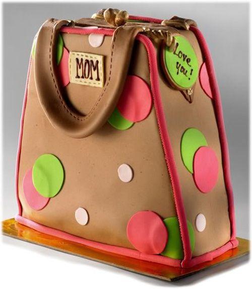 Torta per la festa della mamma a forma di borsa