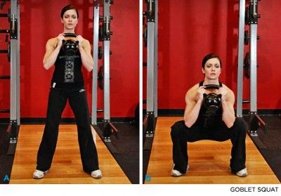 Goblet Squat - How to Lift Your Butt in 15 Minutes at the Gym