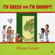 I'm Green and I'm Grumpy! by Alison Lester, a lift-the-flap book: children go into a dress-up closet one by one, and young readers must guess who each child will be when he or she comes out..