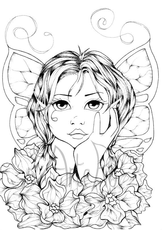Adult Coloring Pages Art Therapy Faery Coloring Pages