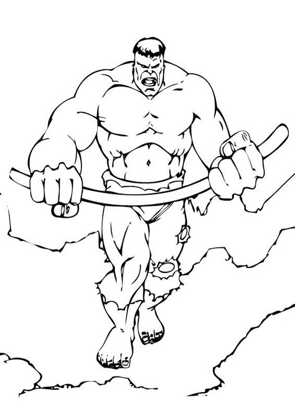 Armed Hulk Coloring Page Hulk Coloring Pages Superhero Coloring Pages Superhero Coloring