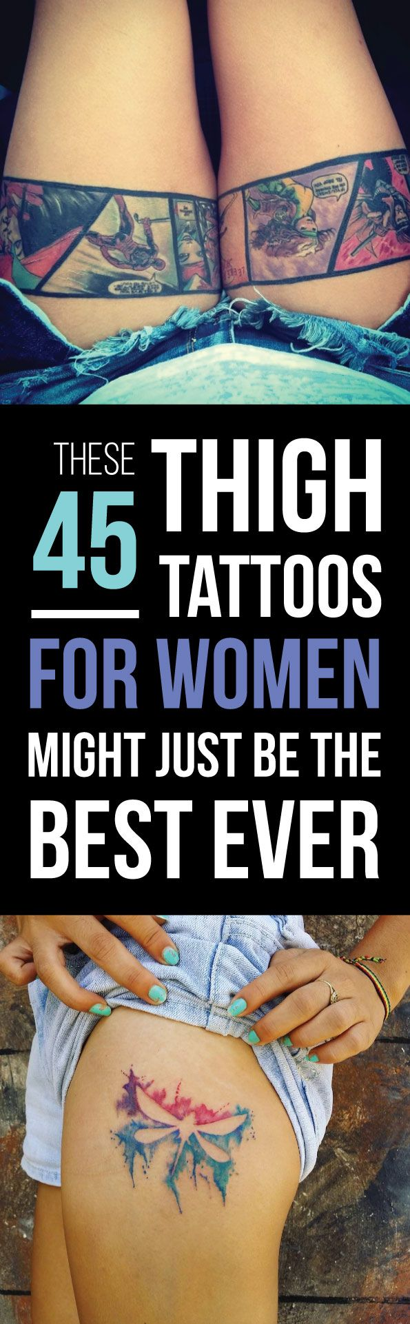 The 45 Best Thigh Tattoos You'll Ever See | TattooBlend