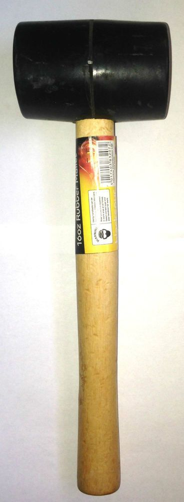 Blackspur HM207 160z Rubber Mallet with Wooden Shaft