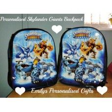Lovely and Personalised Skylanders backpack £9.00 plus p+p (Personalised with fabric paint and covered in a fixing solution)
