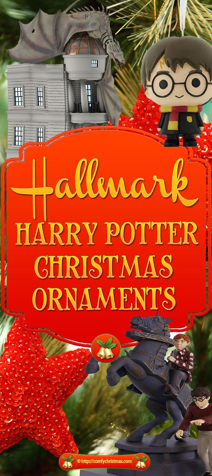 You'll find plenty of these magical Hallmark Harry Potter Christmas Ornaments that perfect for fans of Harry Potter and collectors as gifts or Christmas Tree Ornaments.
