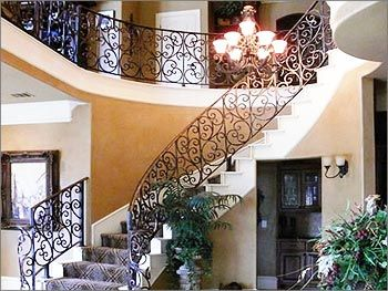 Wrought Iron Staircase Designs