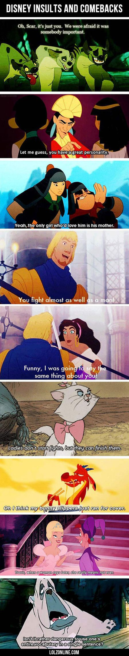 Disney Insults And Comebacks#funny #lol #lolzonline