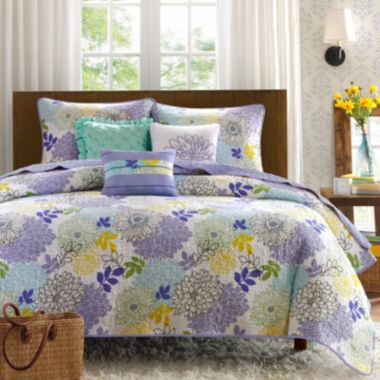 Madison Park Jessica 6-pc. Quilted Coverlet Set
