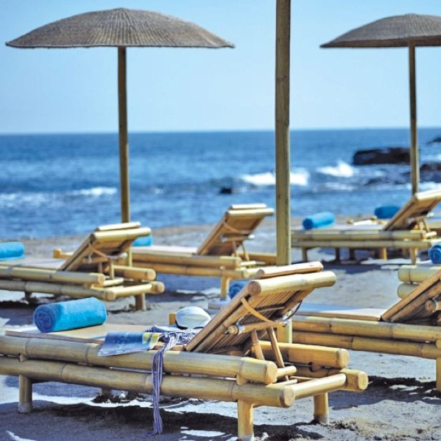 Sensimar Royal Blue Resort, Crete, private beach.