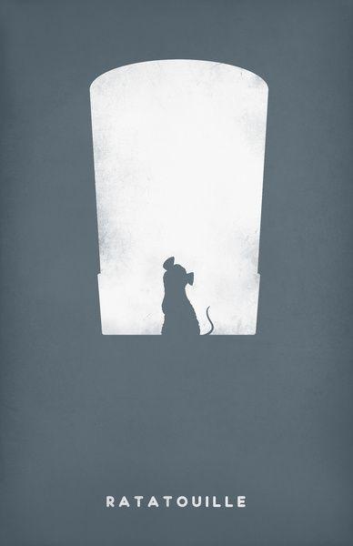 Ratatouille Minimalist Art Print, Pandreaa