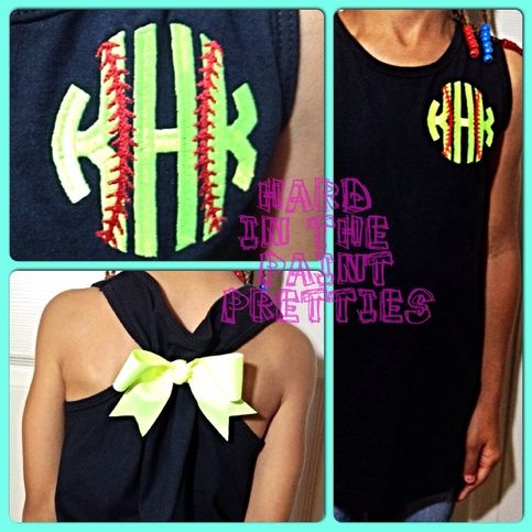 """This is a regular tank top that is pulled together in the back with a beautiful bow to make it more form fitting but still flowy at the bottom. Monograms are typically set up as """"first-LAST-middle initial"""", so BE SPECIFIC in your message which initial is which, so that your order is correctly ..."""