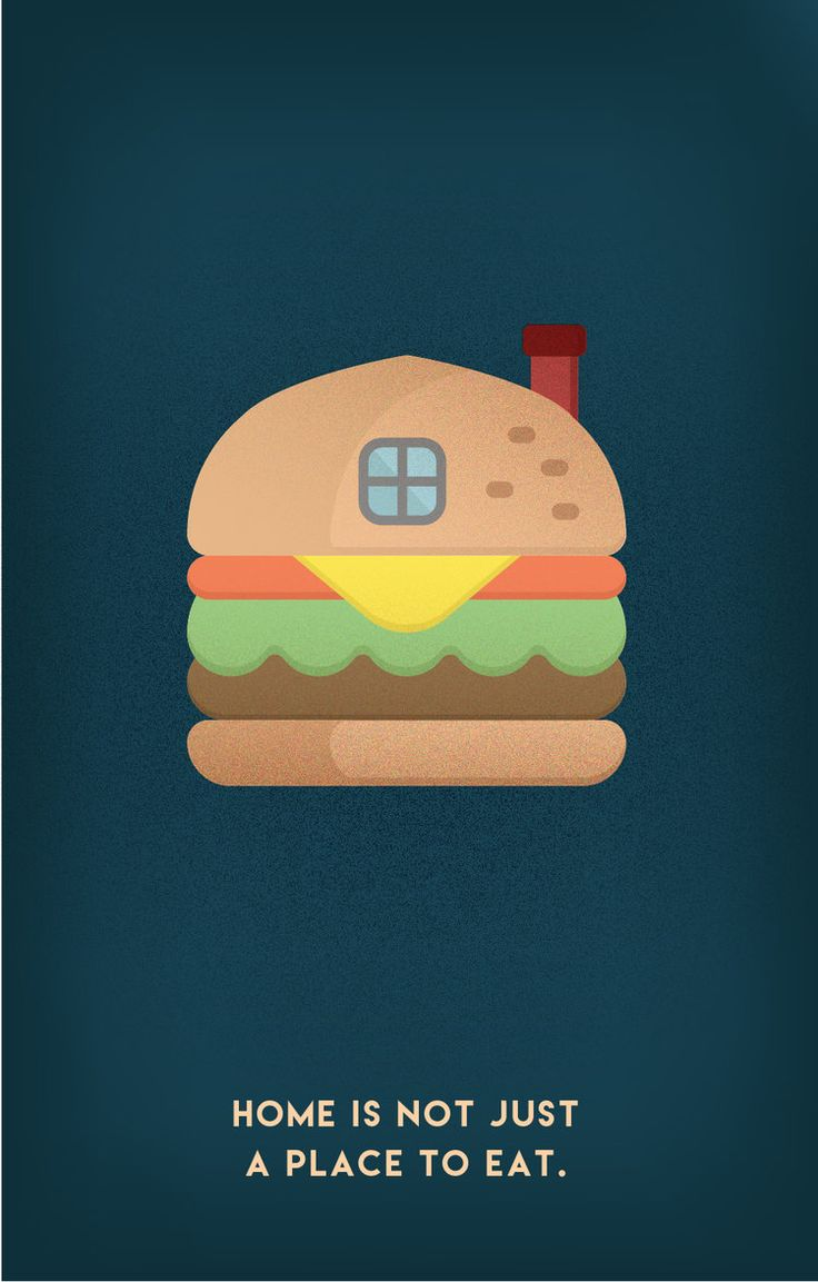 Postcard collection for HOME. #home #hamburger #eat #family #window #thinking #texture #gradient #postcard #collection #funny #creative #art #innovation #wanted #design #graphics #print #illustration #emchengillustration #vector #simple