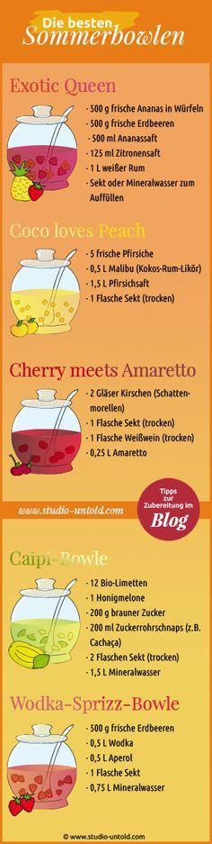 Leckere #Rezepte für sommerliche #Bowlen gibt es in unserem Blog unter http://www.studio-untold.com/de-DE/blog/die-besten-sommerbowlen/