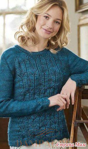 Женский пуловер «Chrysler» - Вязание - Страна Мам