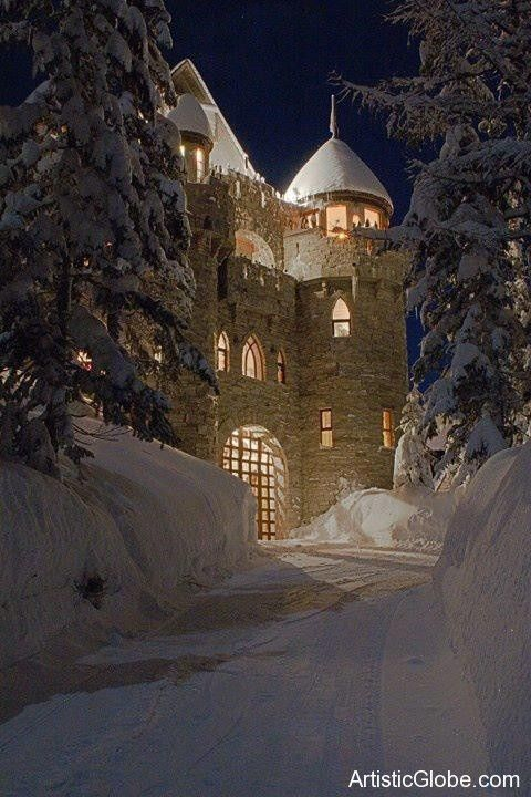 Forest castle in Bavaria, Germany