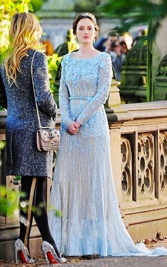 Blair Waldorf in her ELIE SAAB wedding gown   Finale episode of 'Gossip Girl'.