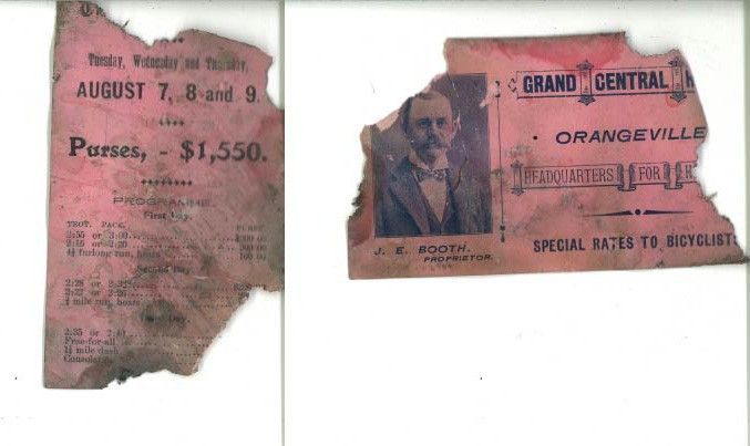 Hidden for decades behind the fireplace mantle at 3 Third Ave. in Orangeville, this ticket was found during renovations and gives us a peek into the history of Orangeville, including the late Grand Central Hotel.