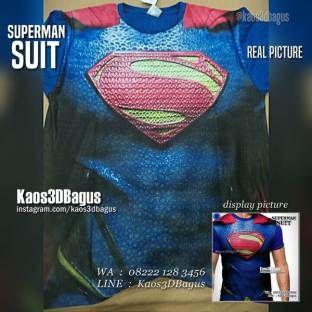 Kaos SUPERMAN, Kaos KARAKTER, Kaos SUPERHERO, Kaos Anak, Kaos3D, Grosir Kaos3D, Superman Suit, https://instagram.com/kaos3dbagus, WA : 08222 128 3456, LINE : Kaos3DBagus