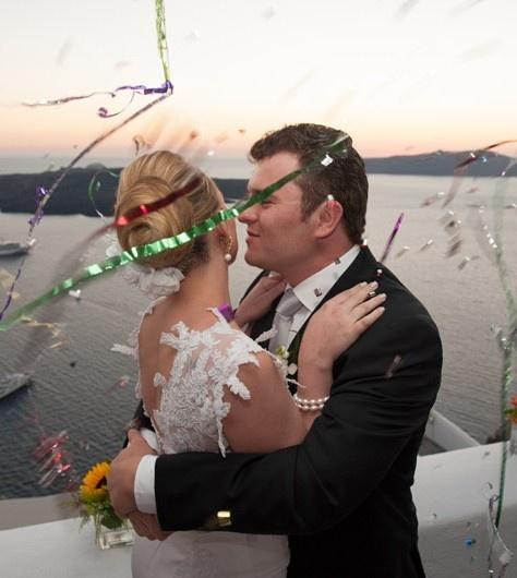 Get married in #Santorini