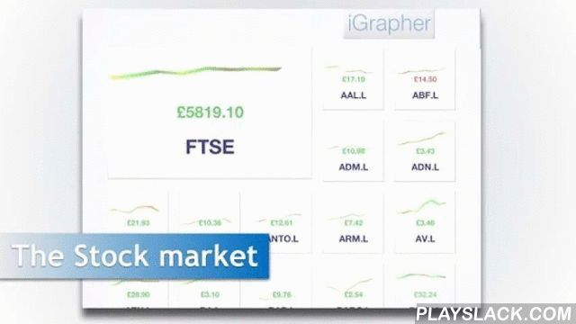 IGrapher  Android App - playslack.com ,  Make finance fun again by visualizing the global stock markets in 3D.View entire stock markets on the same screen in the new grid view, with live graph tiles updated with the latest stock data.Jump into any graph with a single tap, and navigate and zoom into historical data with the your fingers.If you have any feature requests please drop us an e-mail, as we would love to add the features you'd like first.Keywords========FTSEDJIstocks