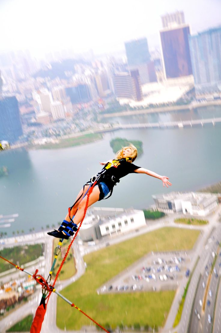 Macau Tower – 233 meter bungy jump. The highest in the world. #exploretheworld