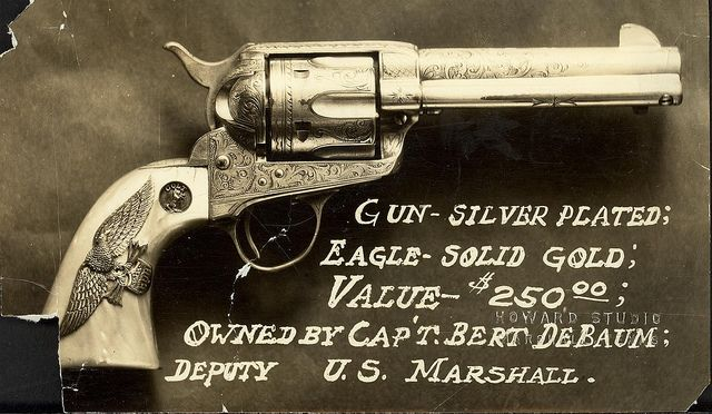 Colt Single Action Army revolver by CT State Library, via Flickr
