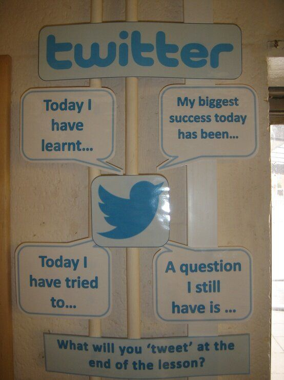 Twitter post review questions and let kids reply in laminated thought bubbles using dry erase markers