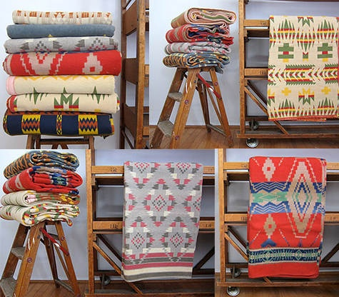 Colorful blankets for a cool evening. From Beacon Blankets.: Vintage Blankets, Trade Blankets, Colors Blankets, Beacon Blankets, Camps Blankets
