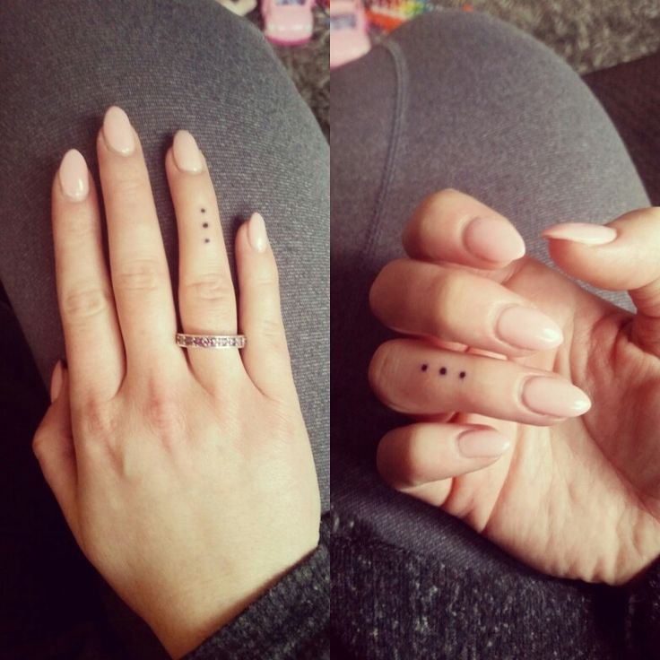 Simple finger tattoo