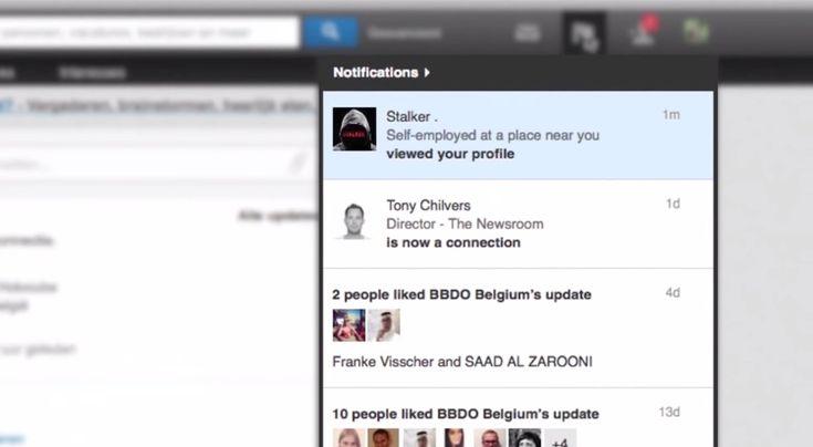"BBDO Utilizes the ""Creepy Side"" of Linkedin to Promote New Stalker TV Series - http://www.creativeguerrillamarketing.com/social-media-marketing/bbdo-utilizes-creepy-side-linkedin-promote-new-stalker-tv-series/"
