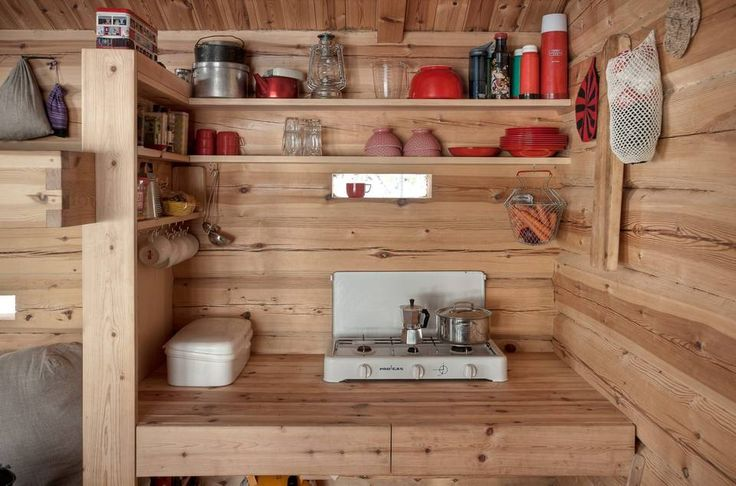 A 118 sq ft cabin in Norway. The home is totally off-grid with no electricity or running water!