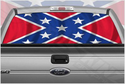 Confederate Flag 2 Rear Window Graphic