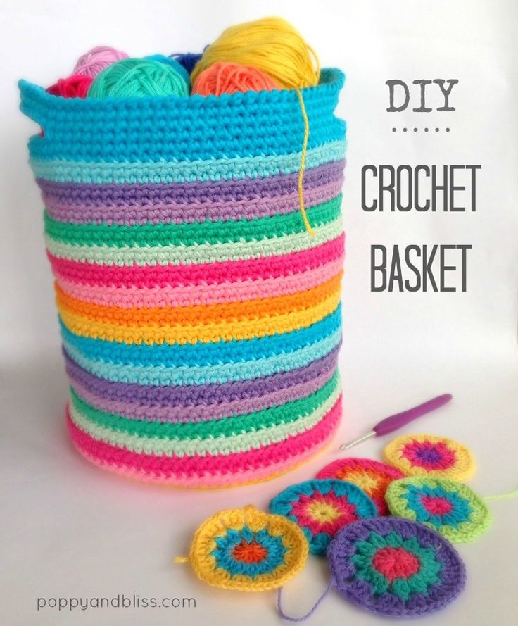 crochet basket pattern by poppyandbliss.com