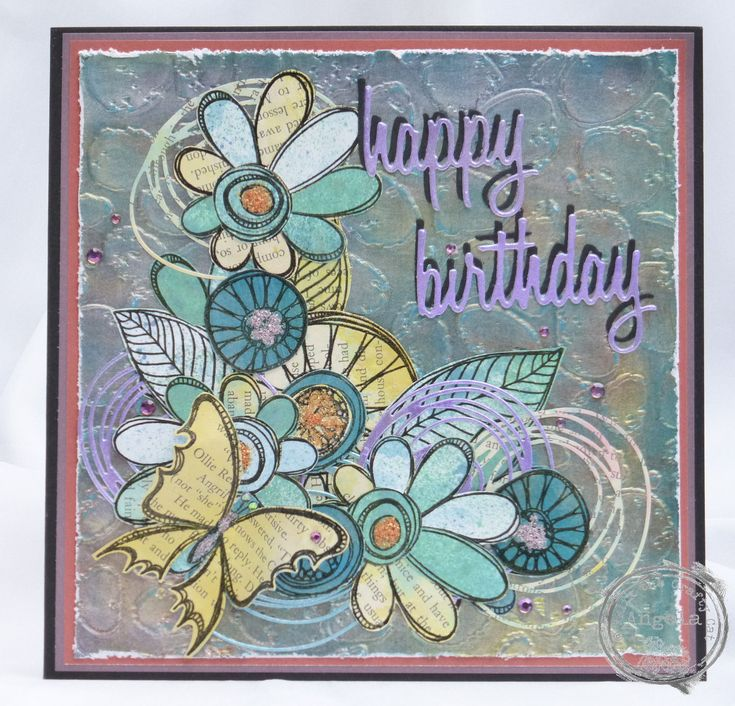 A new card made using Kim Dellow stamps.