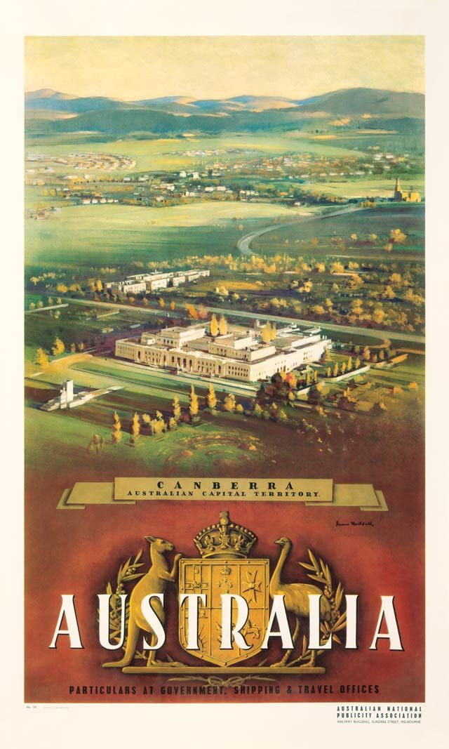Vintage Poster Love - Canberra by James Northfield - http://www.australianvintageposters.com.au/shop/canberra-james-northfield/