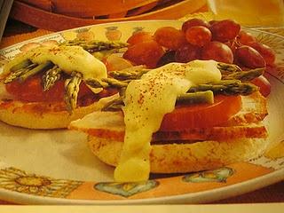 Open Face Chicken Asparagus Sandwich