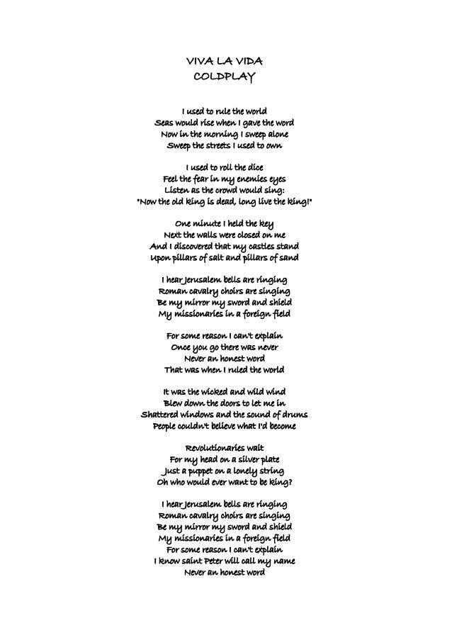 Lyric coldplay viva la vida lyrics : viva la vida coldplay | Viva la vida. Coldplay | eliazar ...