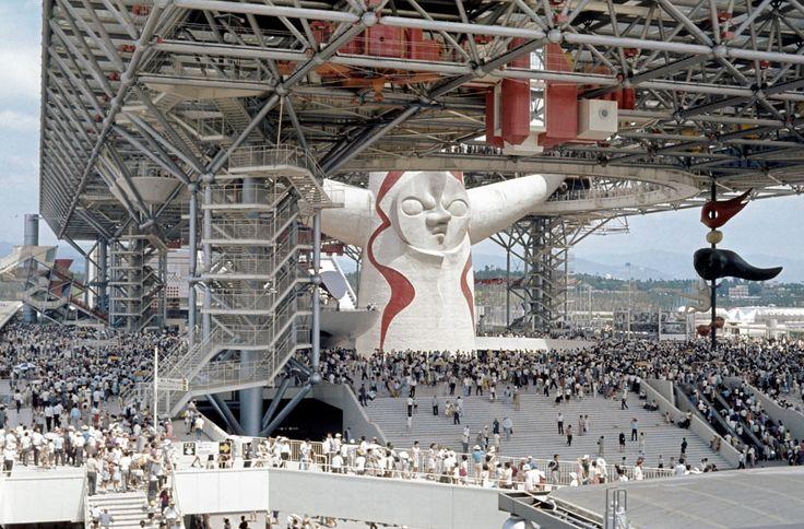 Kenzo Tange + Taro Okamoto, The big roof + Tower of the Sun, Expo '70, Osaka
