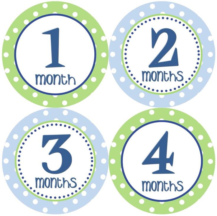 Baby Month Stickers Baby Boy Monthly Onesie Stickers Grey