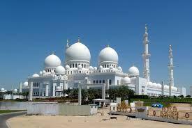 مسجد الشيخ زايد  Abu Dhabi – Scheich Zayed Moschee مسجد الشيخ زايد -- ثالث أكبر مسجد في الأرض أربعة مآذن 107 متر -