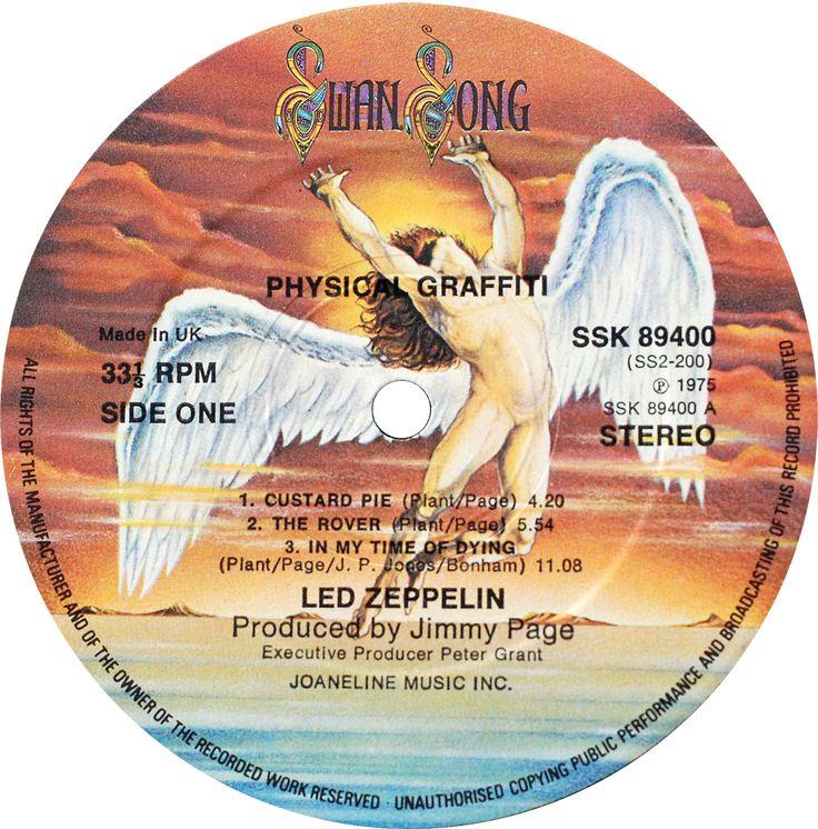 Rótulo de vinil (Swang Song - Led Zeppelin) ♬ Vinyl label (Swang Song - Led Zeppelin) - Icarus # LP